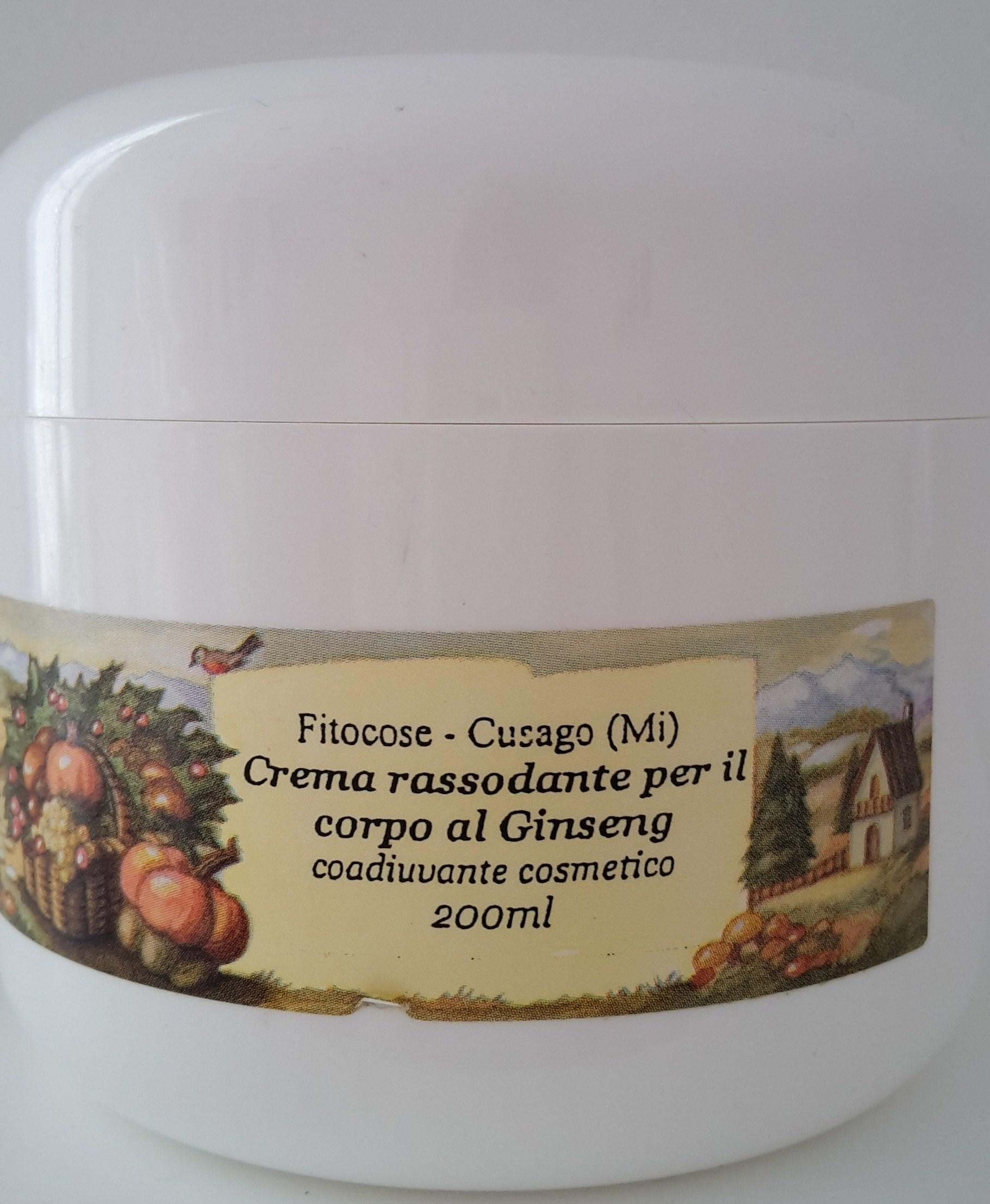 Crema rassodante Fitocose al ginseng: recensione