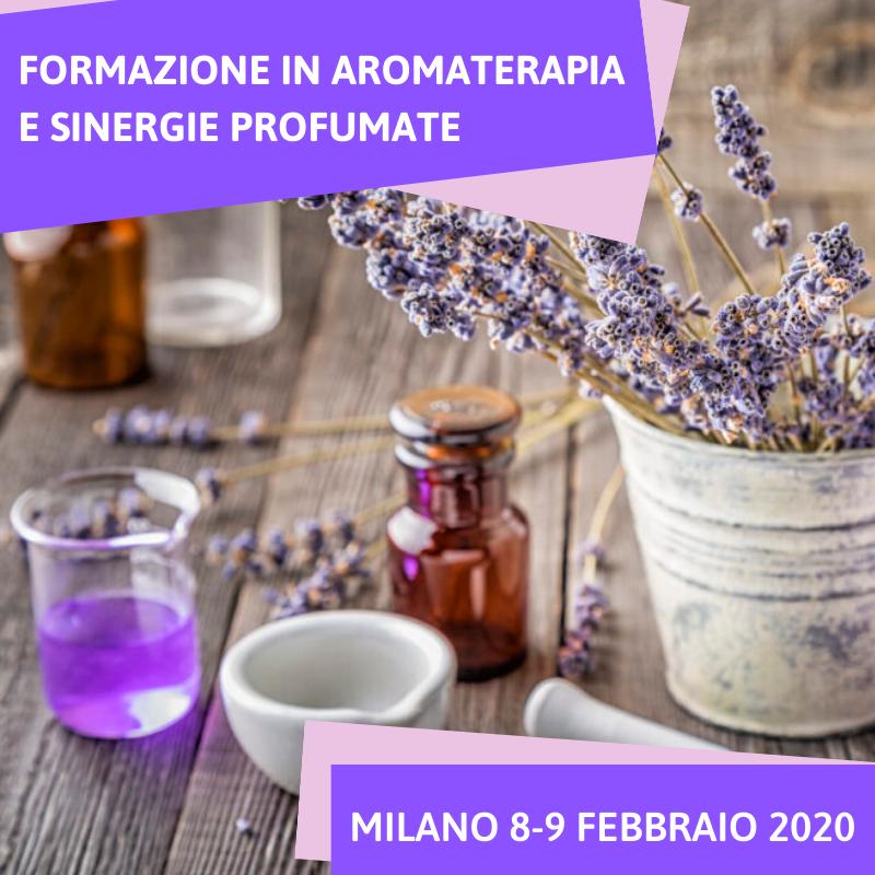 Corso di aromaterapia Milano: aromaterapia e sinergie profumate 8-9 febbraio 2020